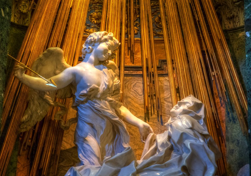 Giovanni Lorenzo Bernini'nin Aziz Teresa (Ecstasy of Saint Teresa) heykeli, Roma