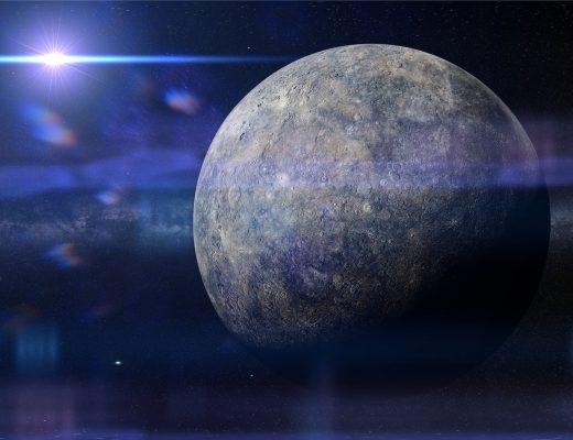 Merkür Gerilemesi yazısı için uzaydan çekilmiş Merkür Gezegeni fotoğrafı