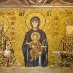 İmparator ve İmparatoriçe ile Meryem ve İsa Mesih'in Bizans mozaiği, Ayasofya Müzesi