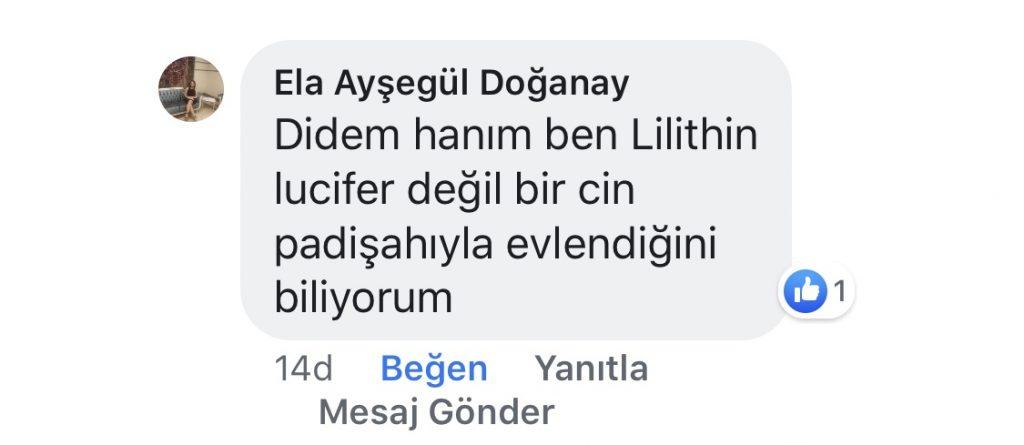 İlk Feminist Lilith | Facebook Yorumları | 7