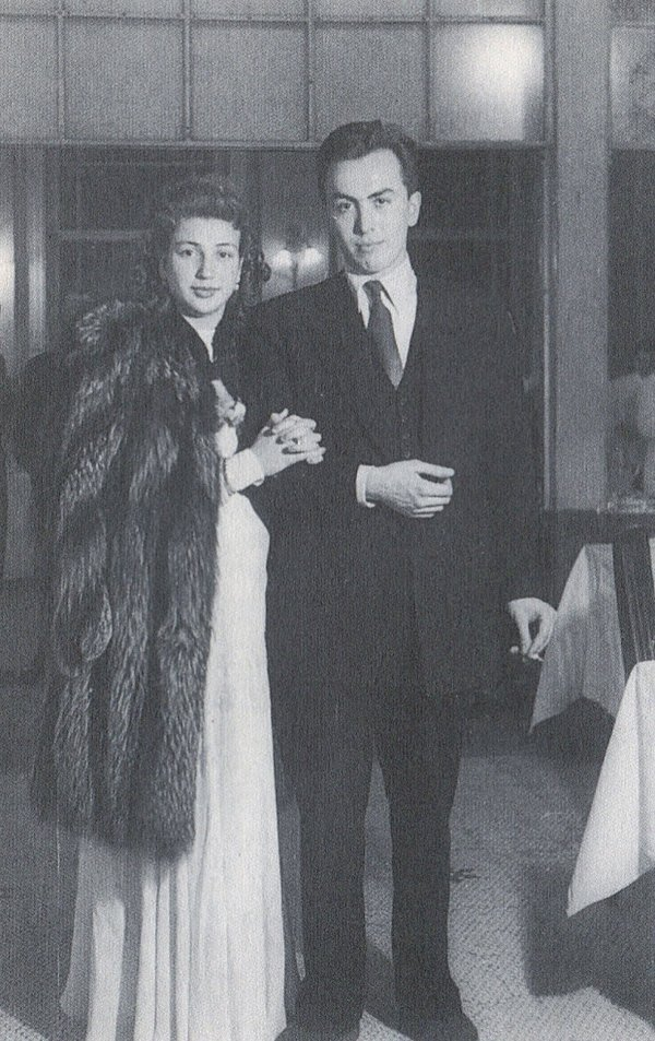 Edip Cansever eşi Mefaret Hanım'la