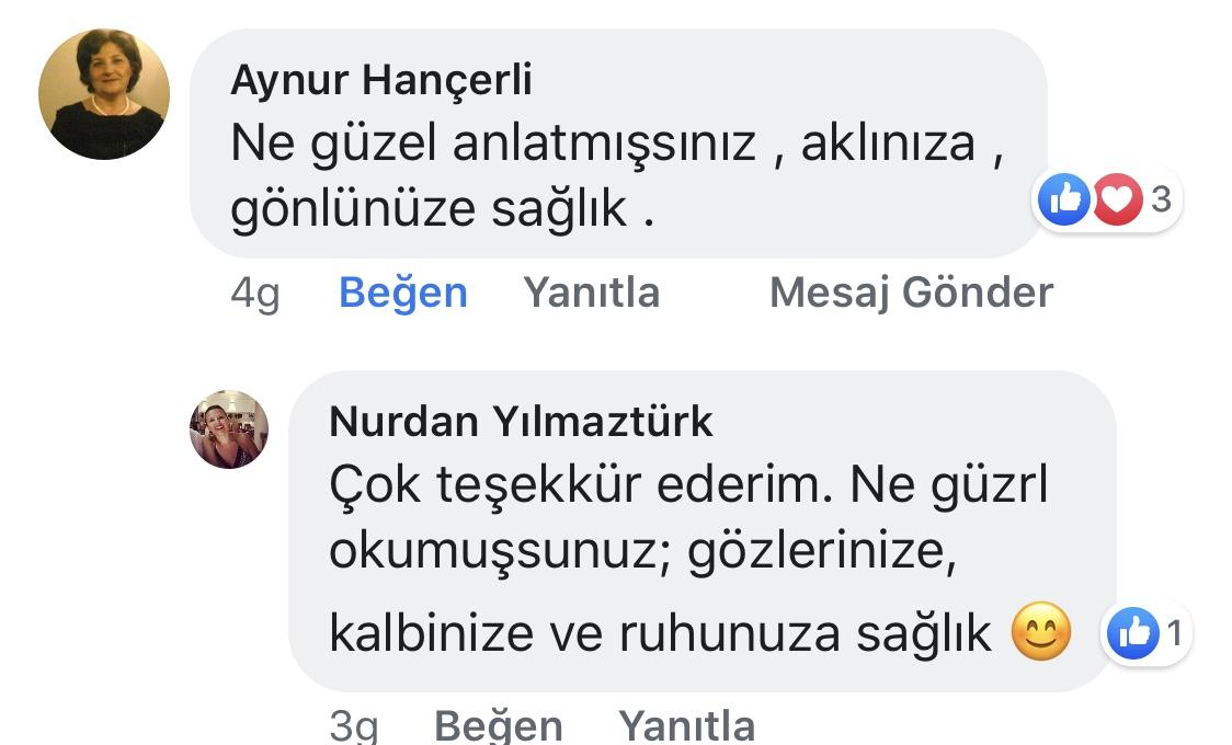 Ana Kucağı | Nurdan Yılmaztürk | Facebook Yorumları | 06