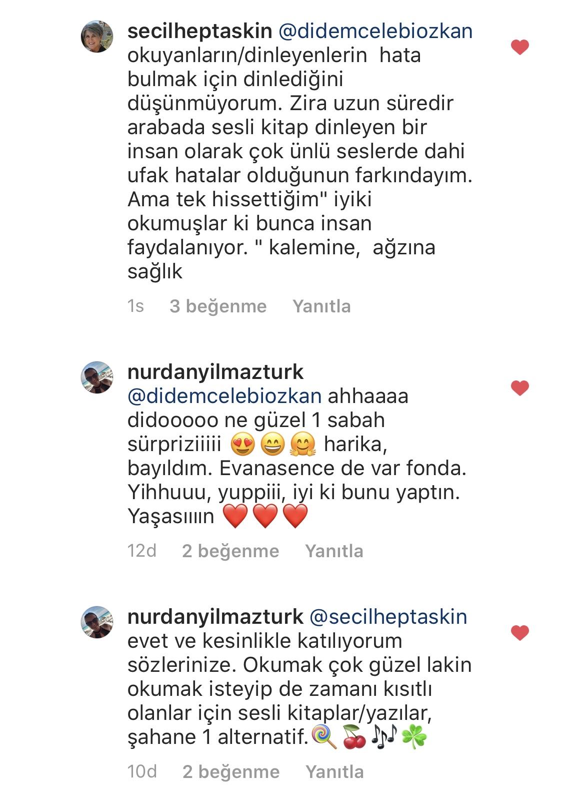 Umarım Bu Gece Öldürülmem    Didem Çelebi Özkan   Instagram Yorumları   02