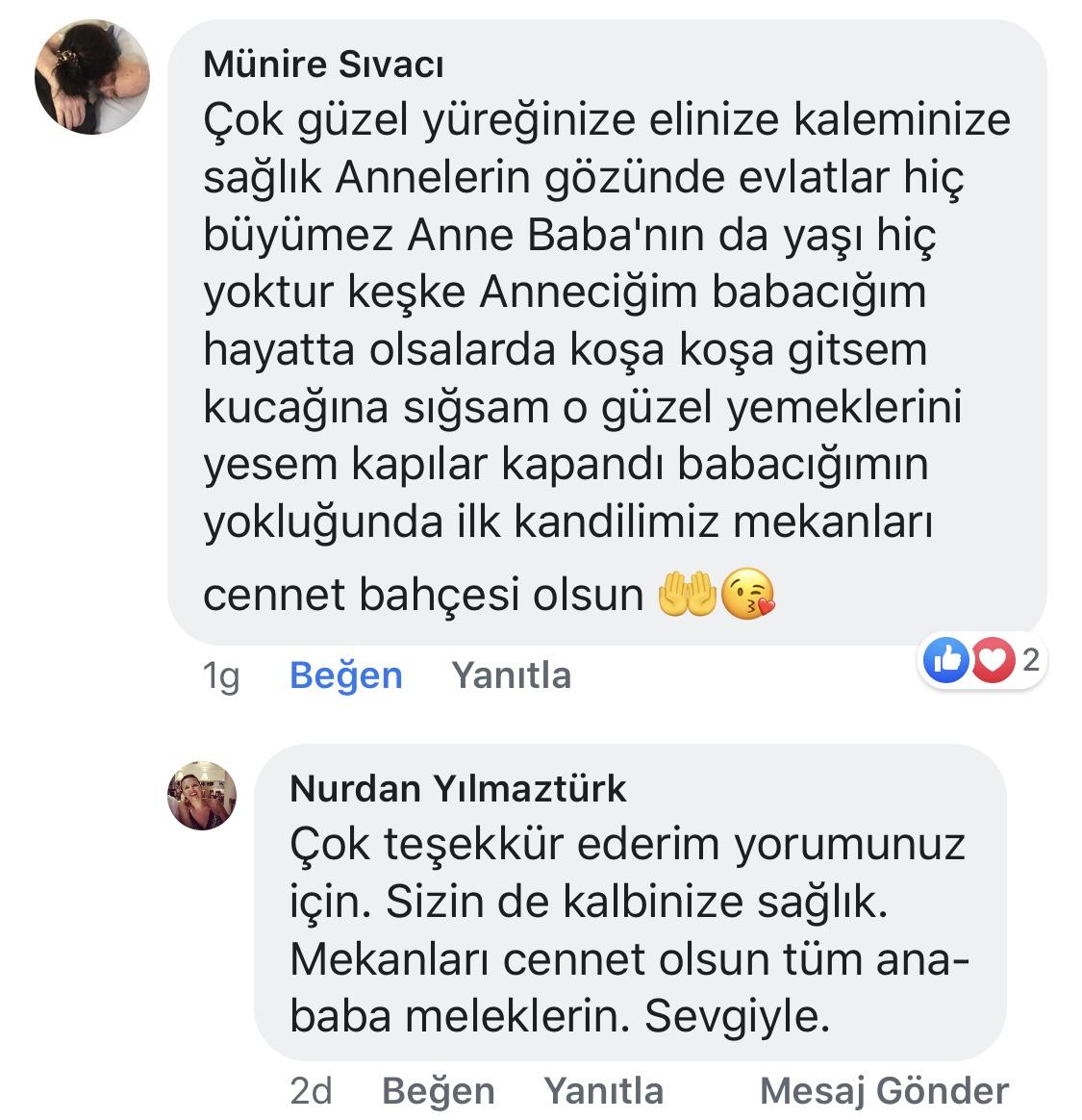 Ana Kucağı | Nurdan Yılmaztürk | Facebook Yorumları | 07
