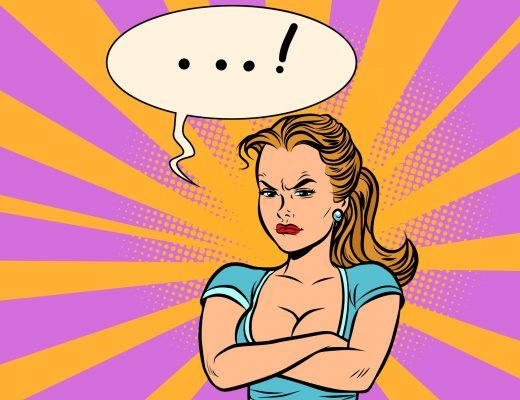 Öfkeli Kadın. Pop Art