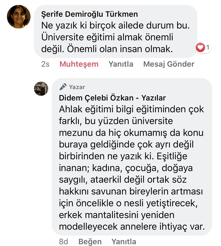 Koca! | Didem Çelebi Özkan Yazılar Facebook Sayfası Yorumları | 03