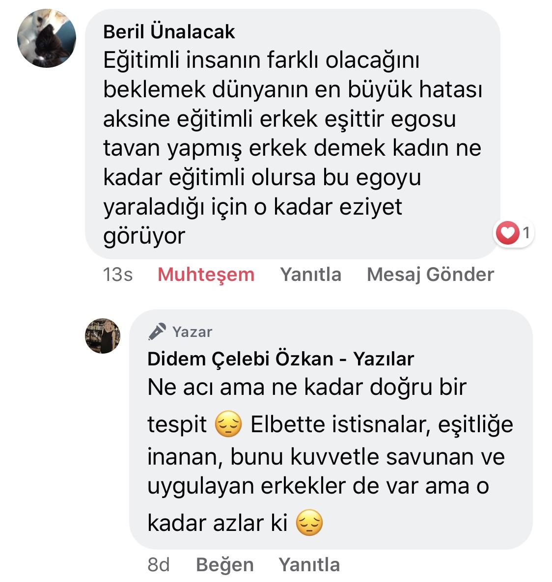 Koca! | Didem Çelebi Özkan Yazılar Facebook Sayfası Yorumları | 07