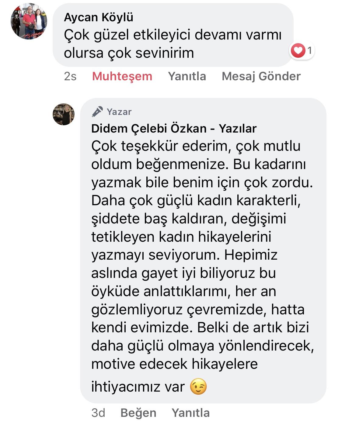 Koca! | Didem Çelebi Özkan Yazılar Facebook Sayfası Yorumları | 05