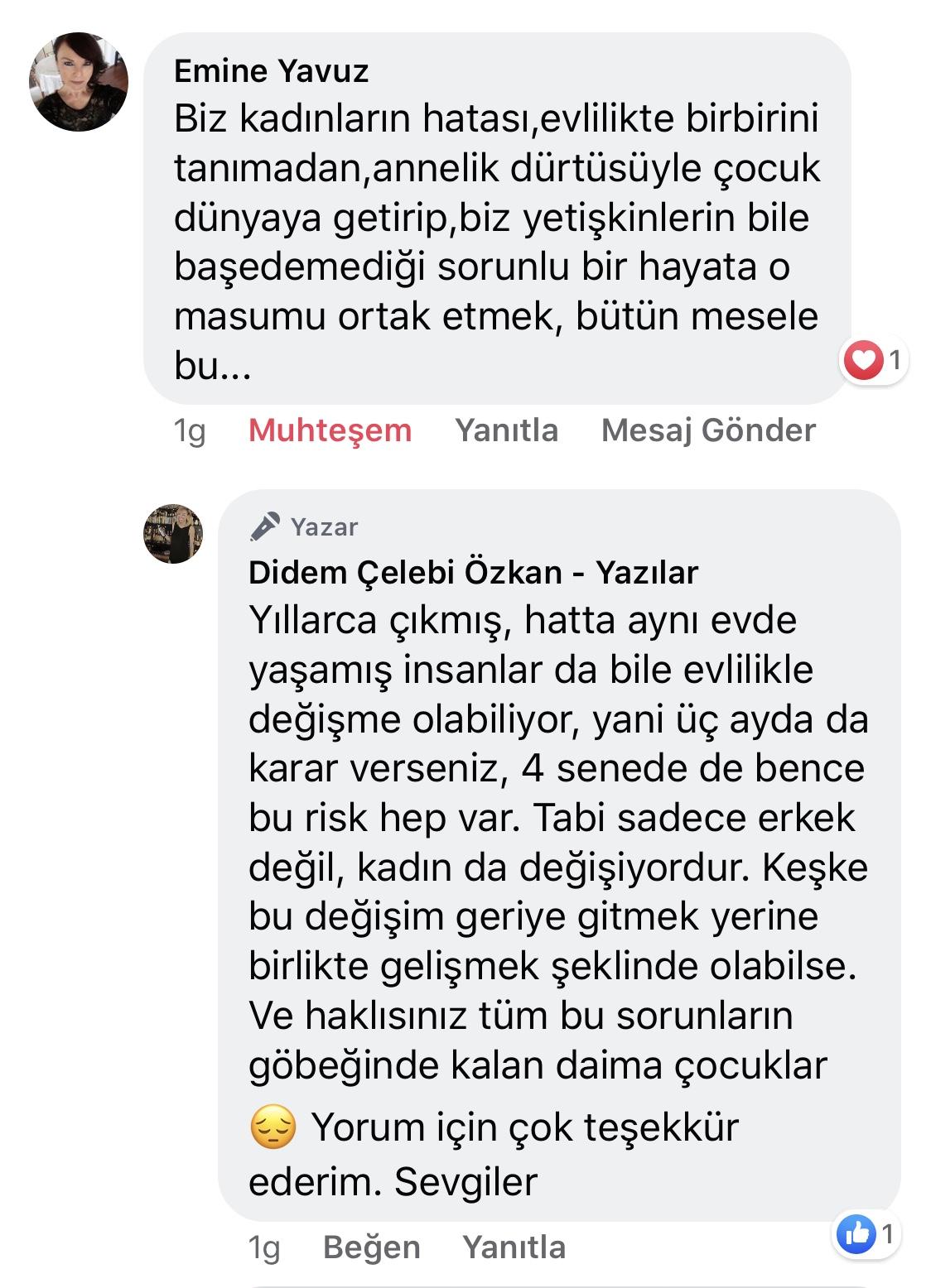 Koca! | Didem Çelebi Özkan Yazılar Facebook Sayfası Yorumları | 01