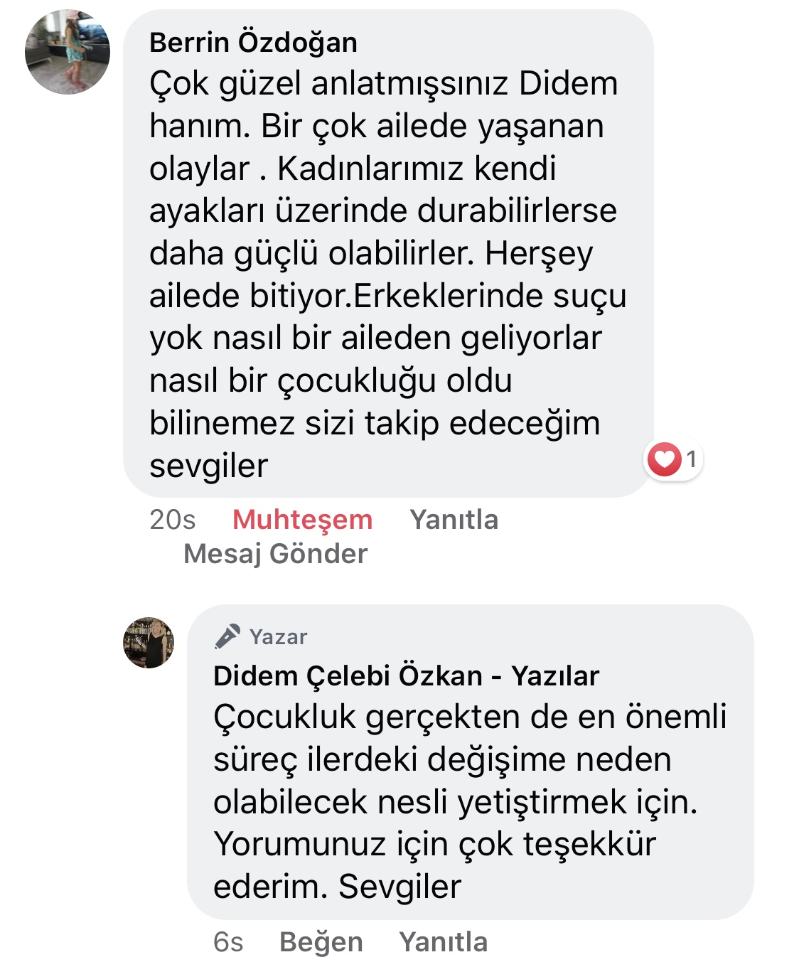 Koca! | Didem Çelebi Özkan Yazılar Facebook Sayfası Yorumları | 12