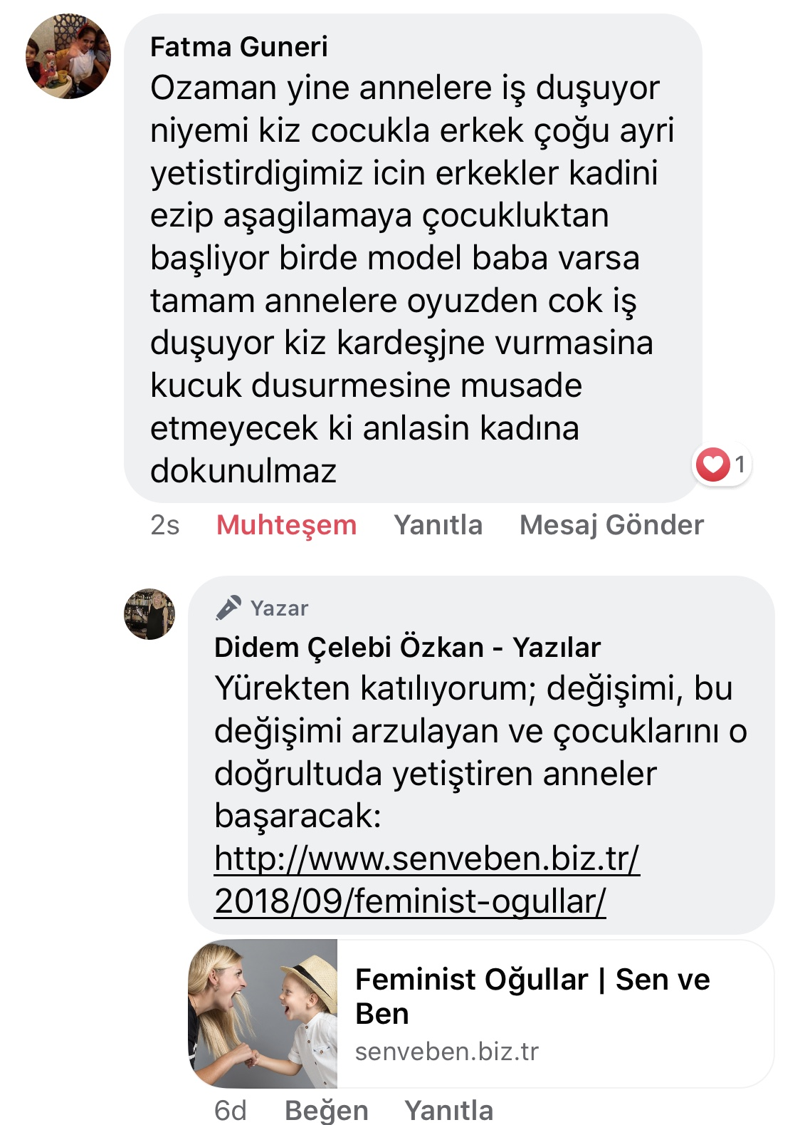 Koca! | Didem Çelebi Özkan Yazılar Facebook Sayfası Yorumları | 08