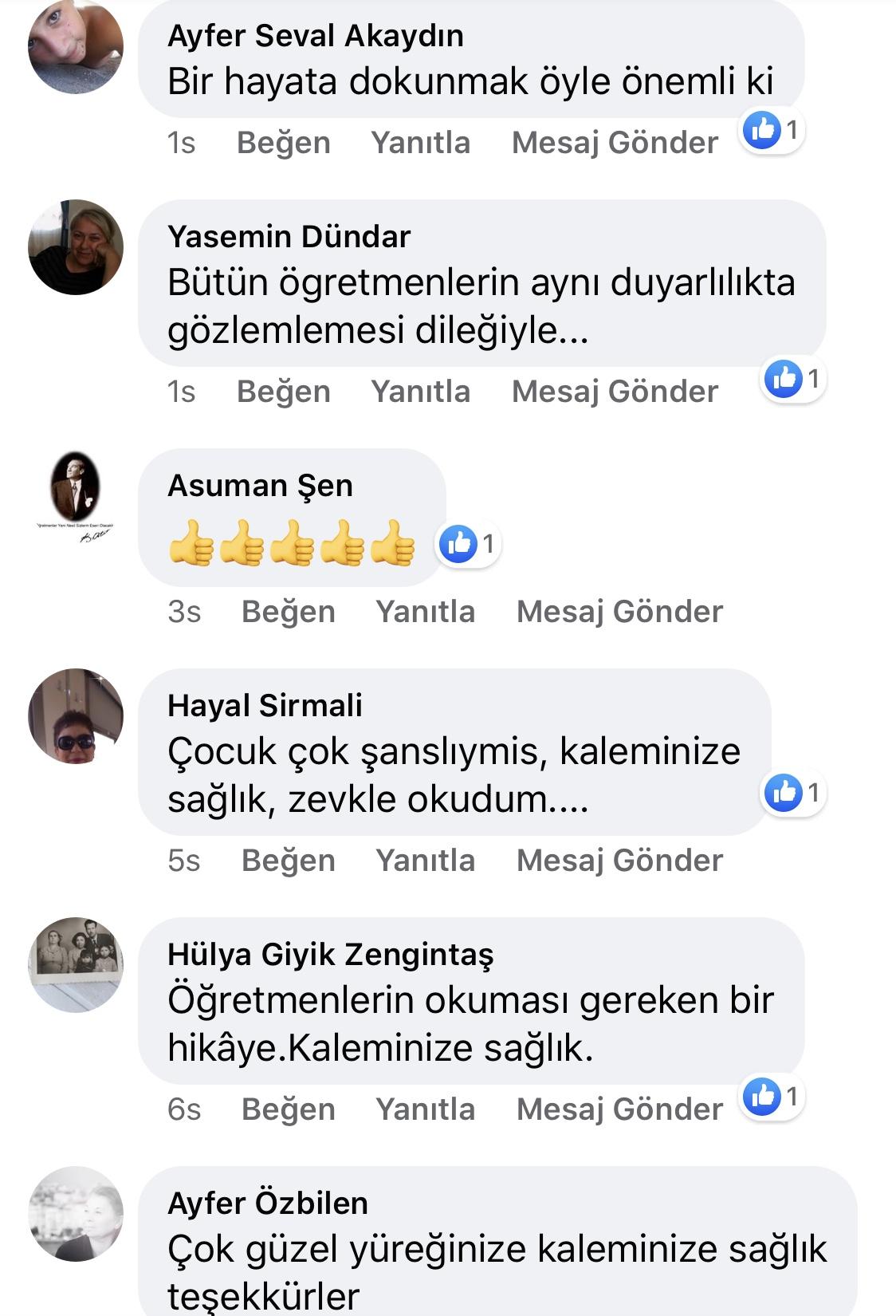 Karnıyarık | Zeynep Mete | SenVeBen Facebook Sayfası Yorumları | 06