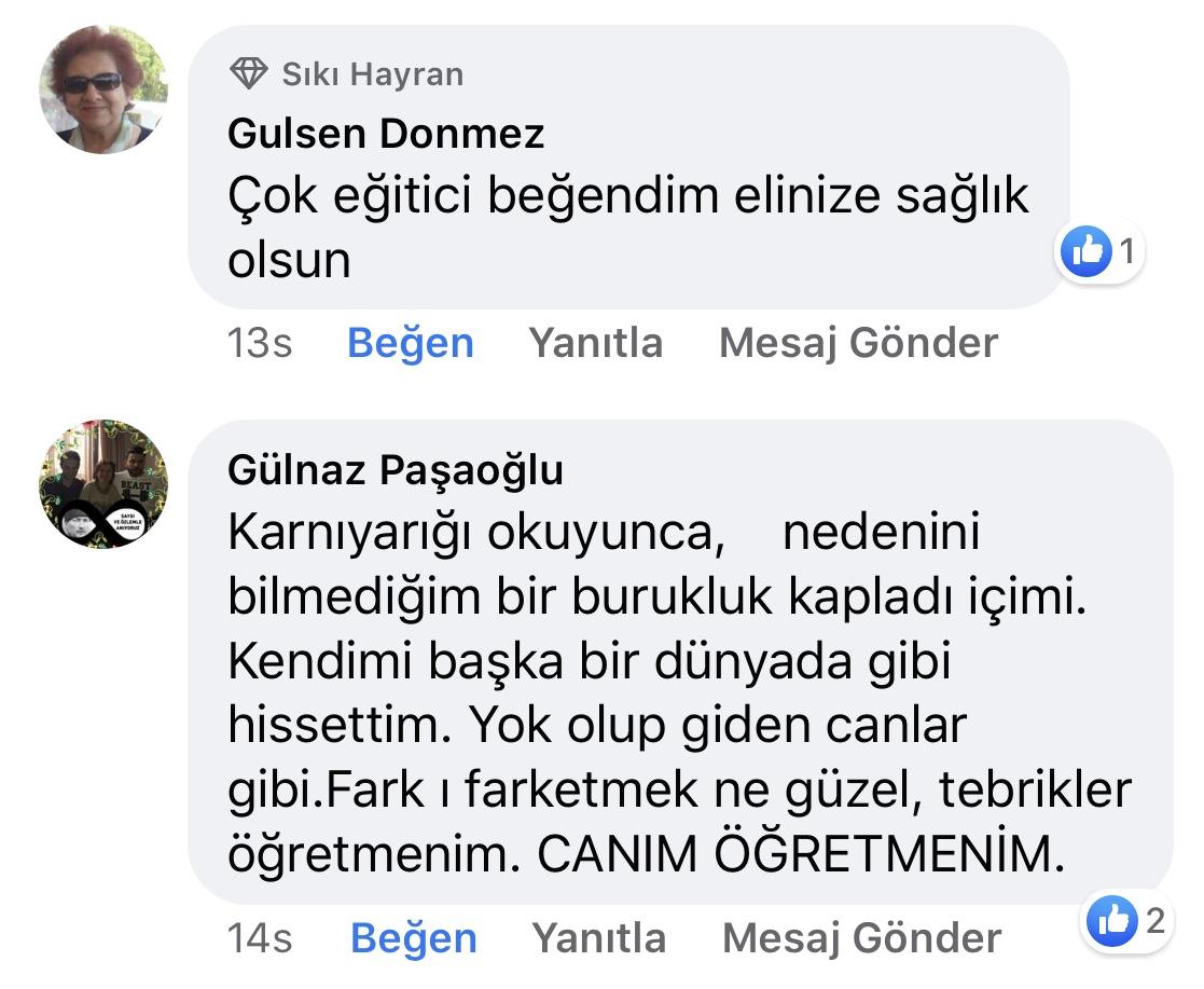 Karnıyarık | Zeynep Mete | SenVeBen Facebook Sayfası Yorumları | 07