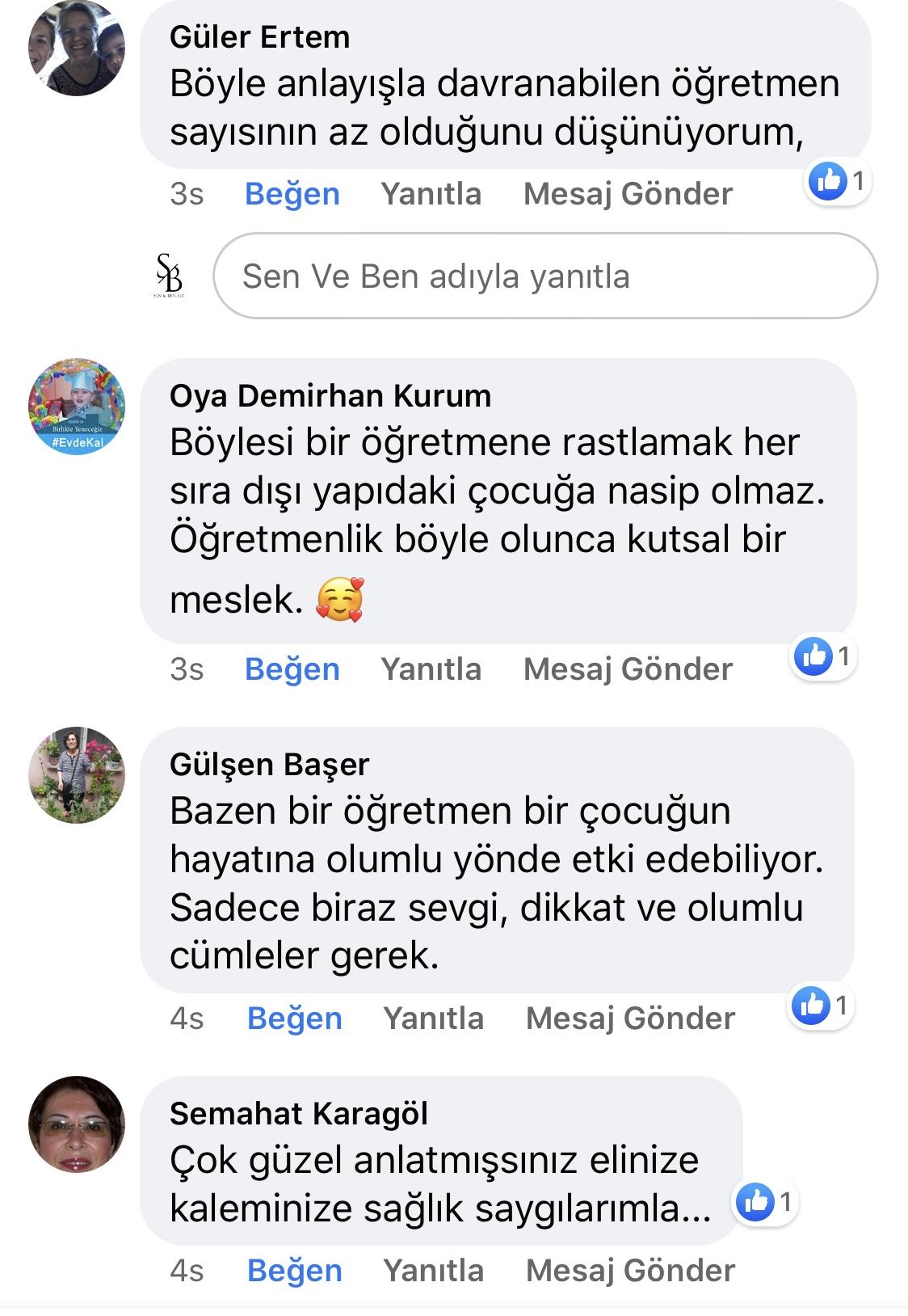 Karnıyarık | Zeynep Mete | SenVeBen Facebook Sayfası Yorumları | 16