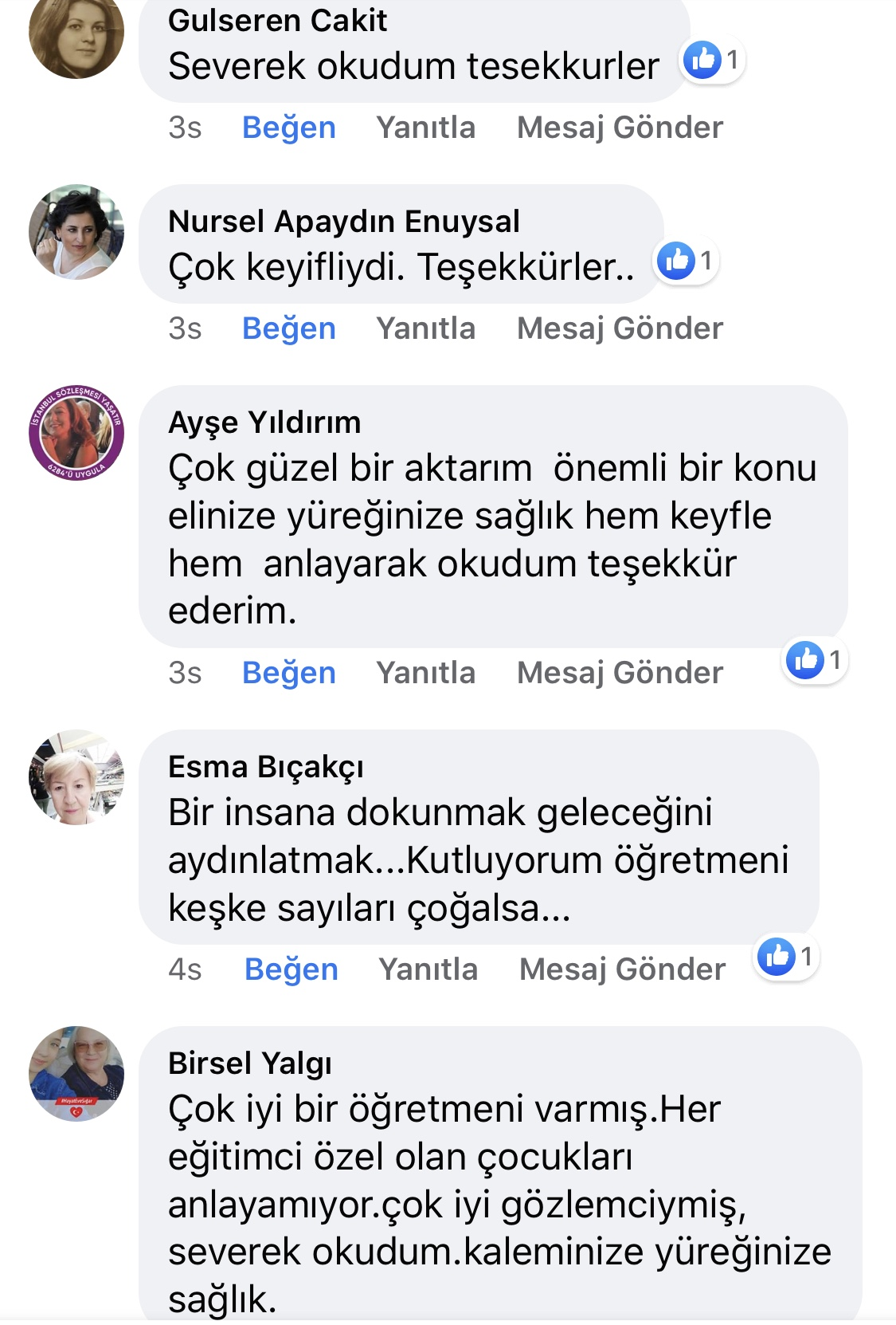 Karnıyarık | Zeynep Mete | SenVeBen Facebook Sayfası Yorumları | 03
