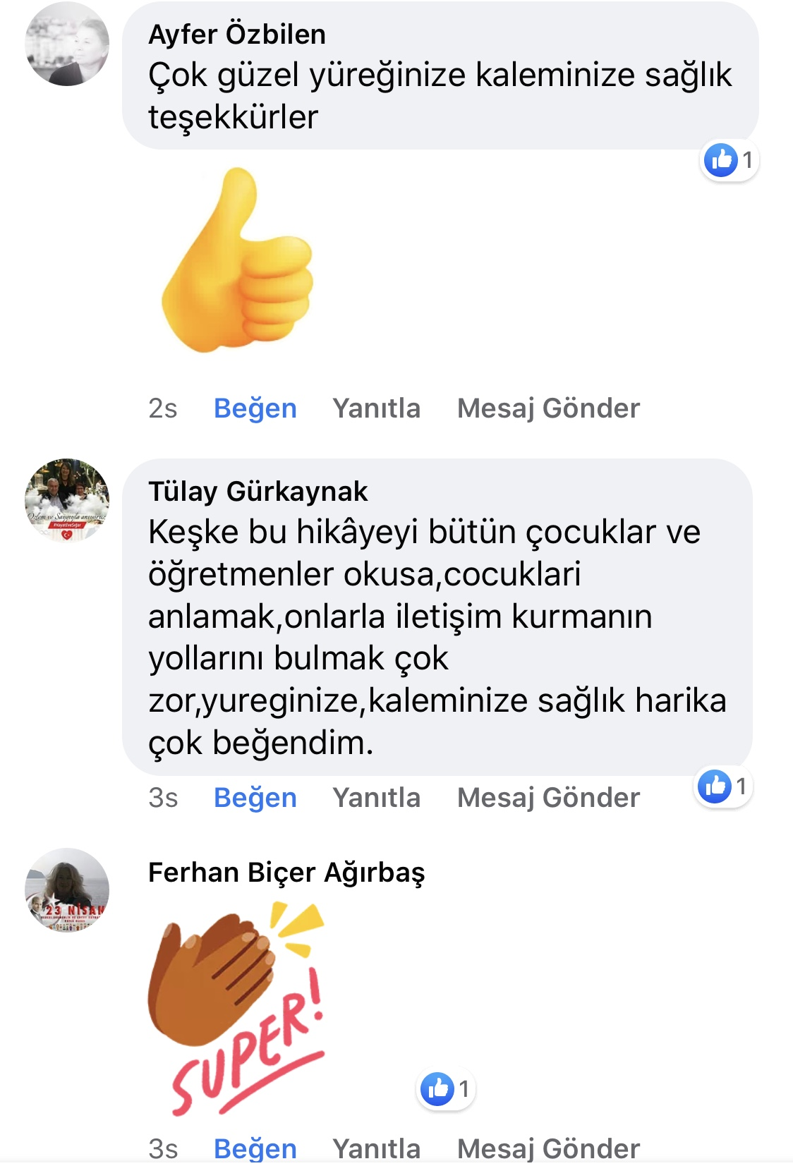 Karnıyarık | Zeynep Mete | SenVeBen Facebook Sayfası Yorumları | 05