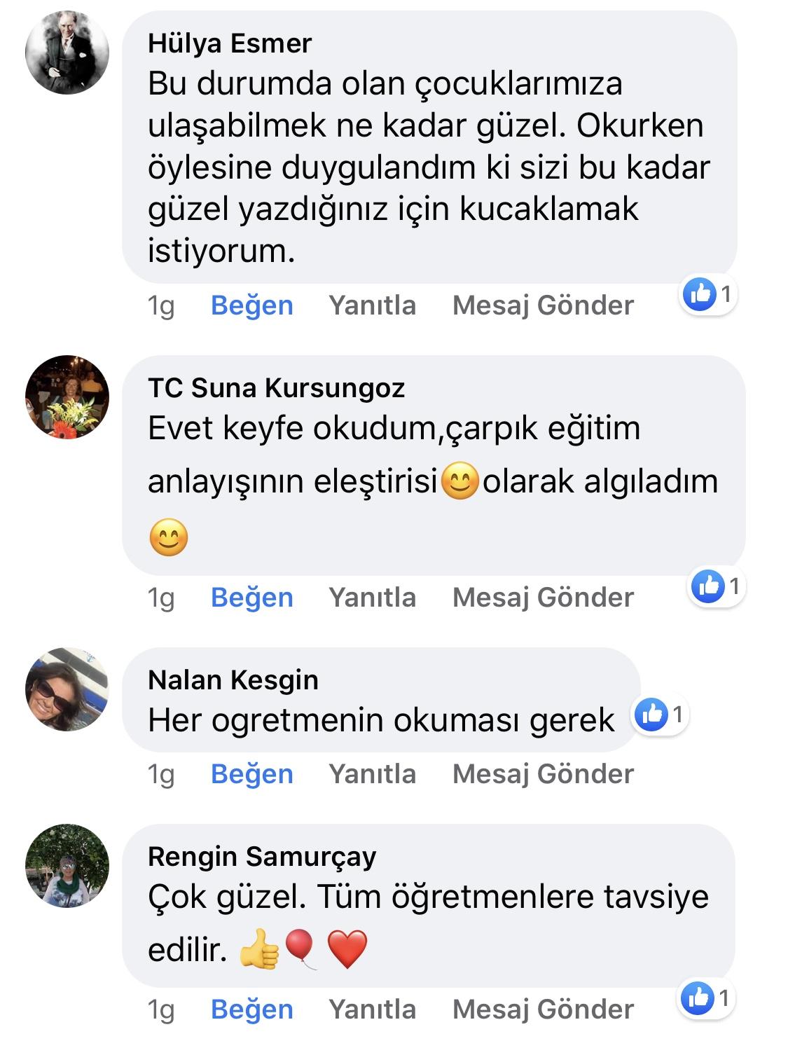 Karnıyarık | Zeynep Mete | SenVeBen Facebook Sayfası Yorumları | 12