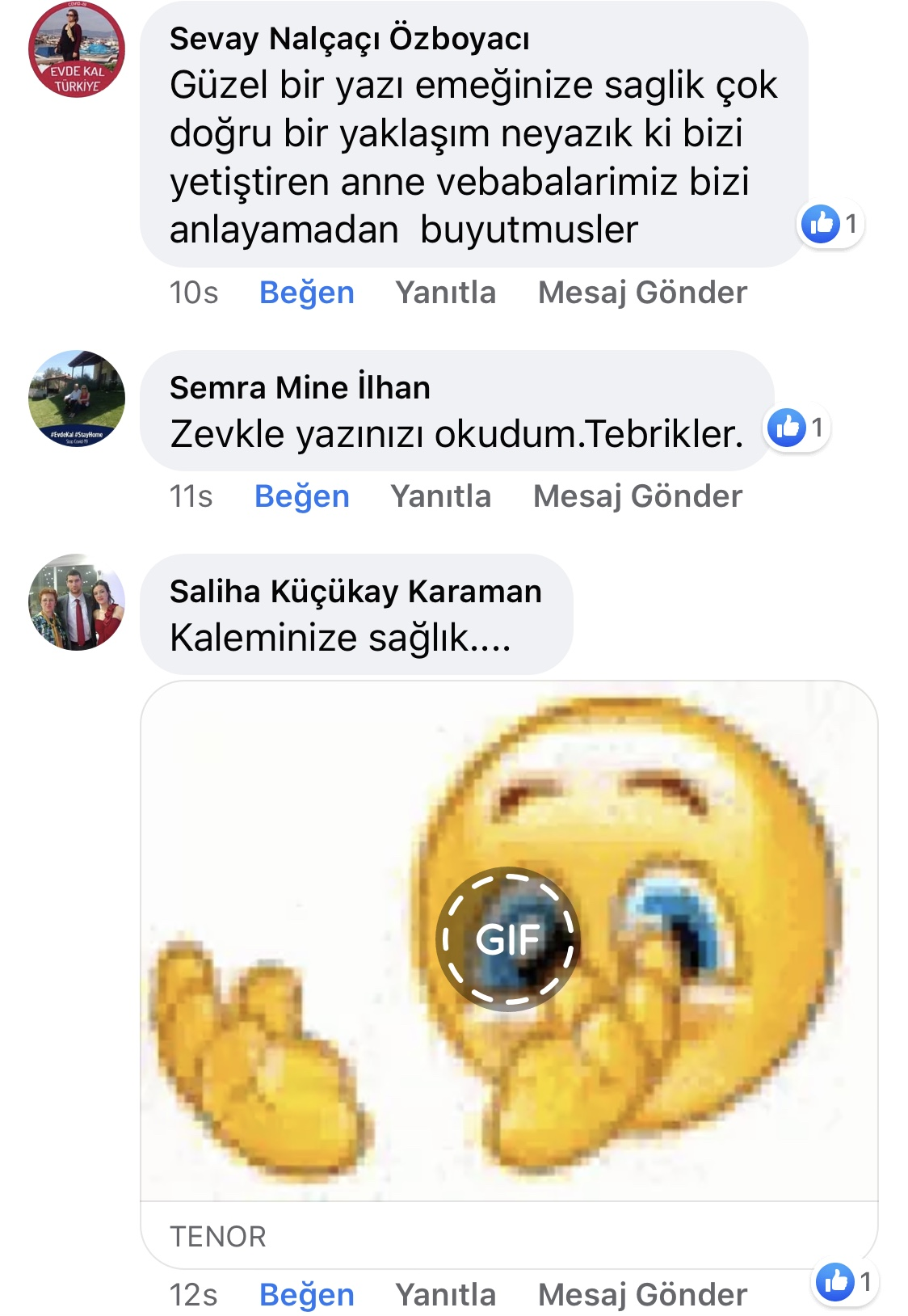 Karnıyarık | Zeynep Mete | SenVeBen Facebook Sayfası Yorumları | 08