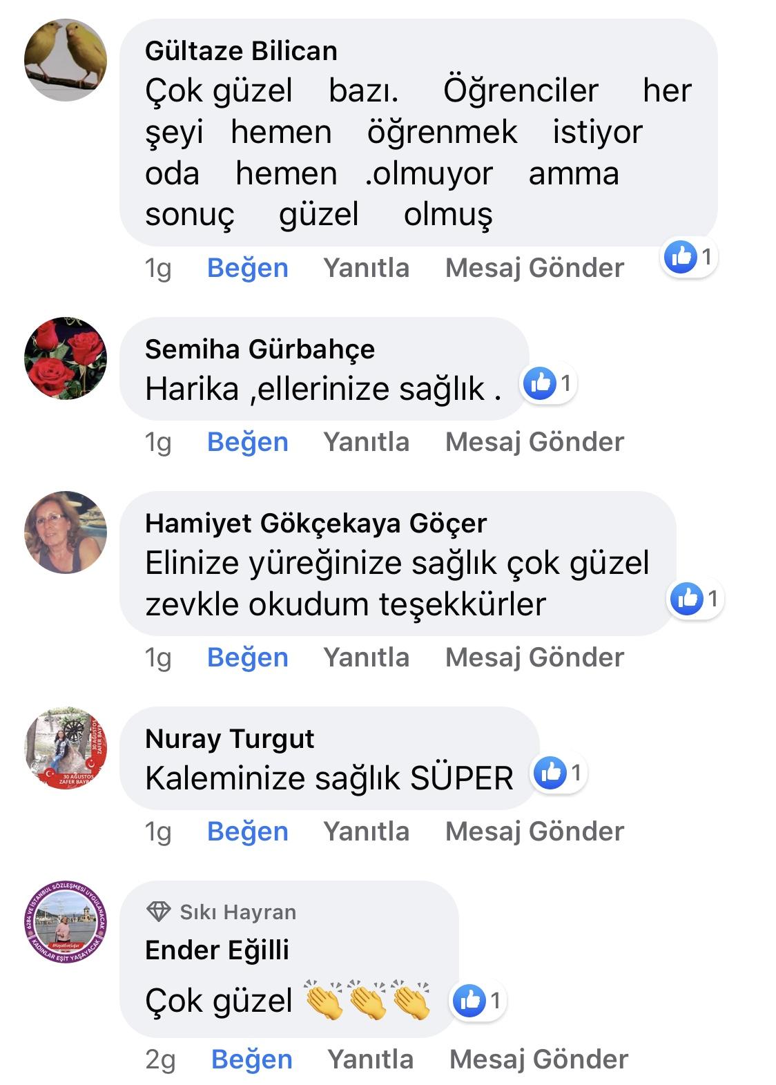 Karnıyarık | Zeynep Mete | SenVeBen Facebook Sayfası Yorumları | 11