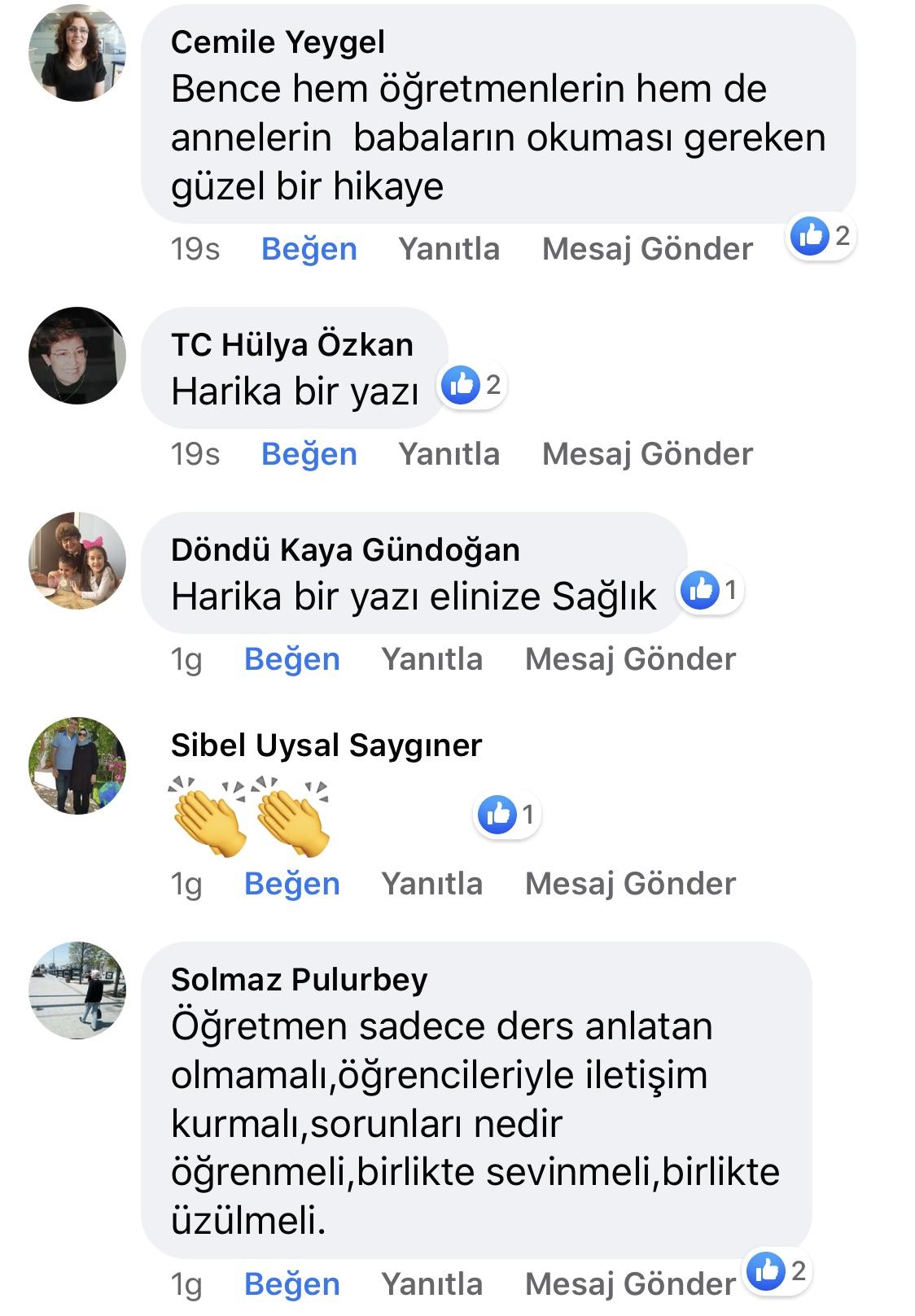 Karnıyarık | Zeynep Mete | SenVeBen Facebook Sayfası Yorumları | 13