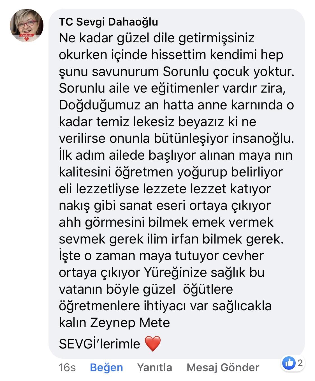 Karnıyarık | Zeynep Mete | SenVeBen Facebook Sayfası Yorumları | 14