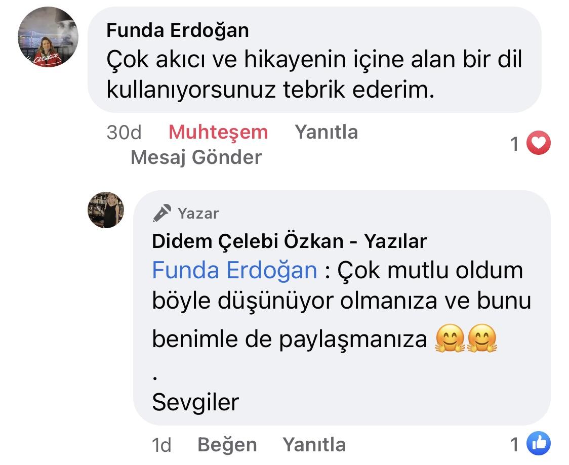 Hezeyan | Didem Çelebi Özkan Yazılar Facebook Sayfası Yorumları | 02