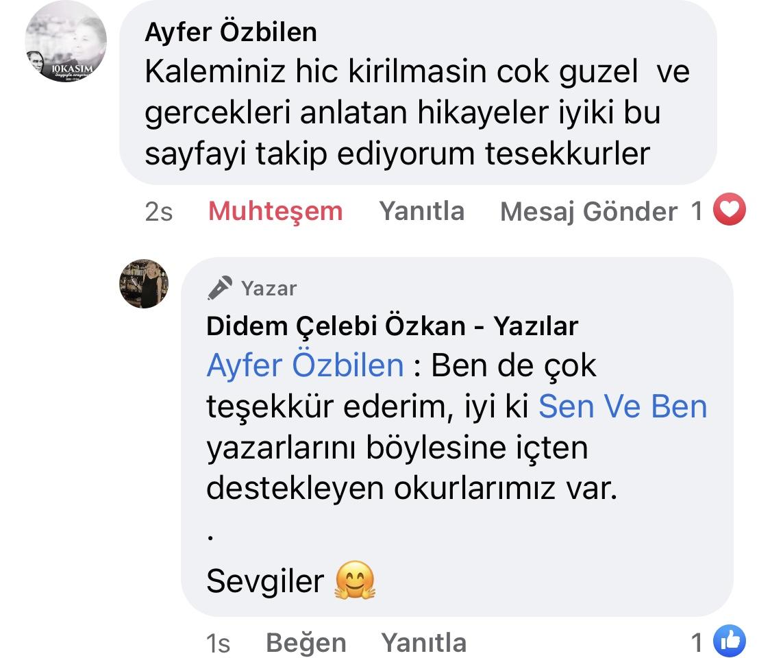 Hezeyan | Didem Çelebi Özkan Yazılar Facebook Sayfası Yorumları | 05