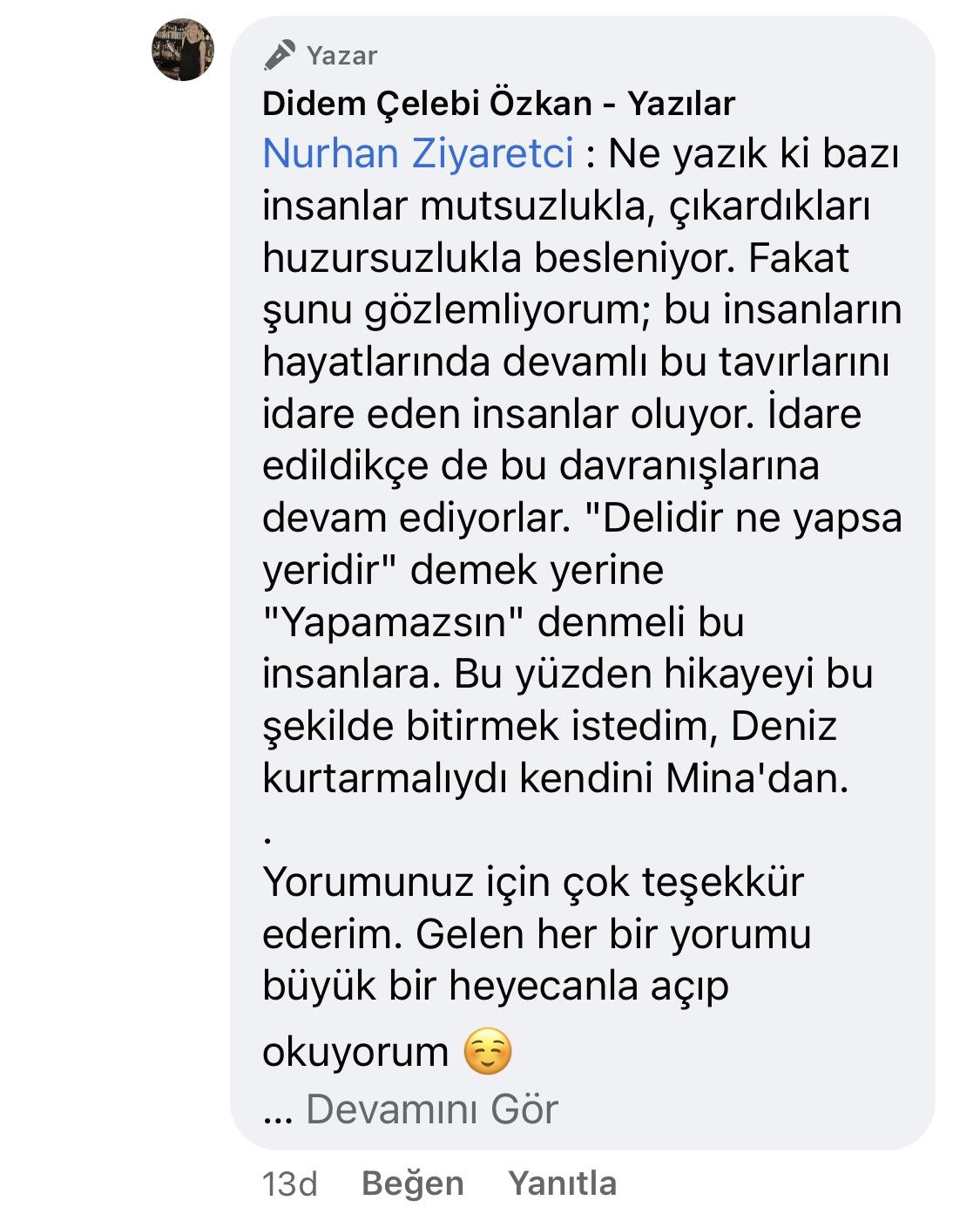 Hezeyan | Didem Çelebi Özkan Yazılar Facebook Sayfası Yorumları | 03_02
