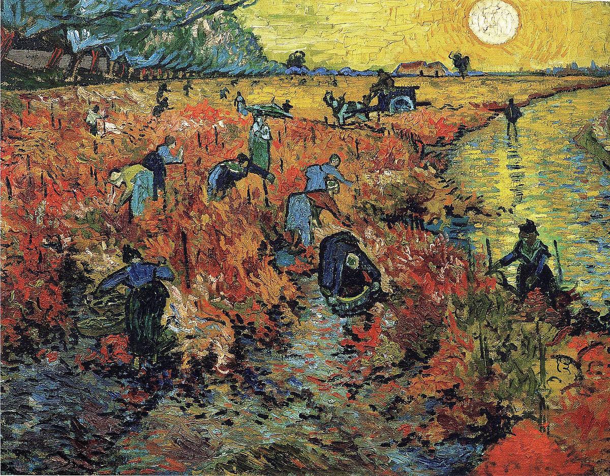The Red Vineyard | Arles'te Kırmızı Bağ | Vincent Van Gogh