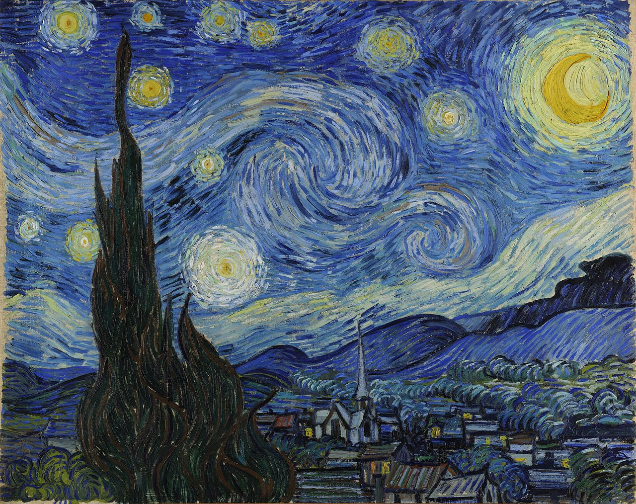 The Starry Night | Yıldızlı Gece | Vincent Van Gogh